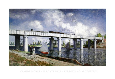 The Railway Bridge at Argenteuil - Claude Monet