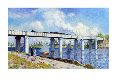 The Railway Bridge to Argenteuil - Claude Monet