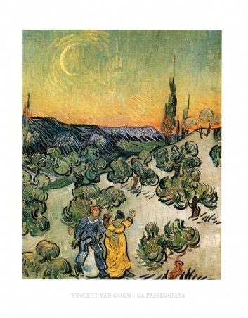 Evening Promenade - Vincent Van Gogh