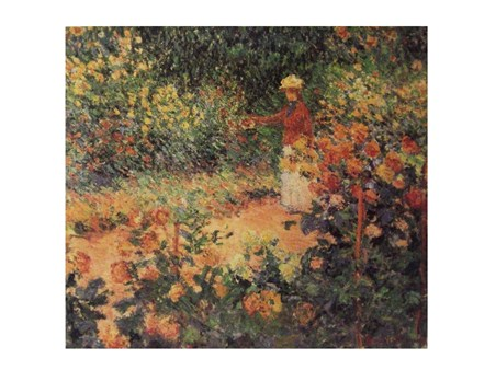 Artist in the Garden of Giverny - Claude Monet