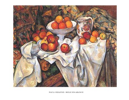 Still life with Apples and Oranges - Paul Cezanne