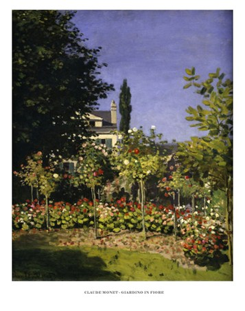 Framed The Garden in Bloom - Claude Monet