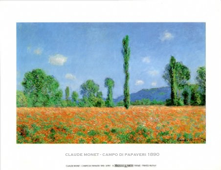 Poppy Field - Claude Monet