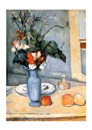 Framed Il Vaso Blu - Paul Cezanne
