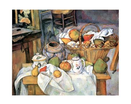 Framed Natura Morta - Paul Cezanne