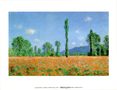 Campo Di Papaveri 1890 - Claude Monet