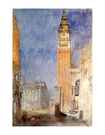 Framed Piazzetta Di S. Marco - William Turner