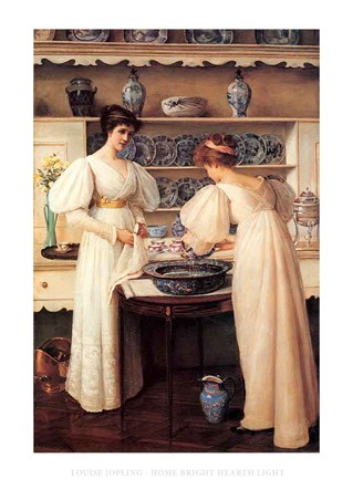Home Bright Hearth Light - Louise Jopling
