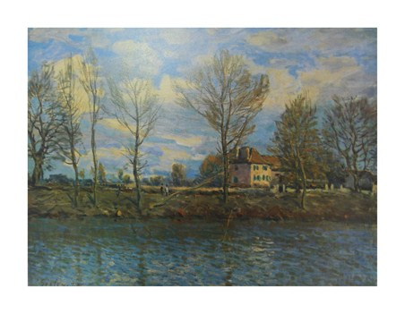 Island of The Grande Jatte - Alfred Sisley