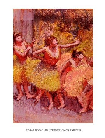 Dancers in Lemon & Pink - Edgar Degas
