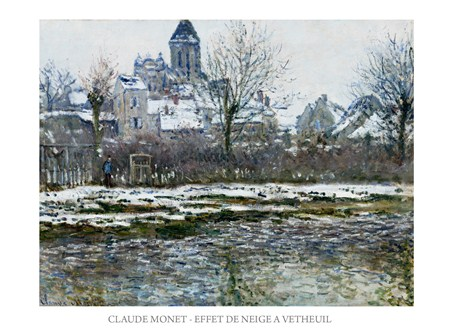 Vetheuil In The Snow - Claude Monet