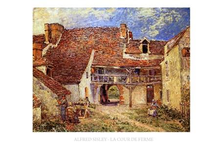 The Farmyard - Alfred Sisley