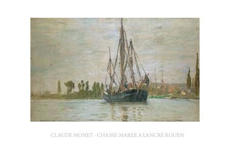 Chasse-Maree a L'ancre Rouen - Claude Monet