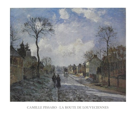 The Road to Louveciennes - Camille Pissaro