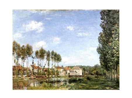 Moret Bords Du Loing - Alfred Sisley