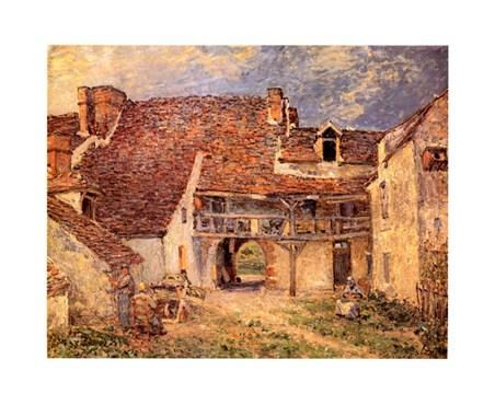 La Cour De Ferme, Alfred Sisley