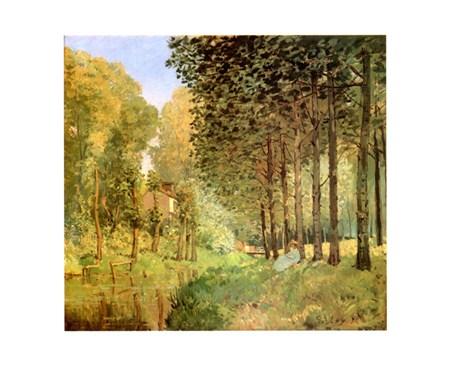 Le Repos Au Bord Du Ruisseau - Alfred Sisley