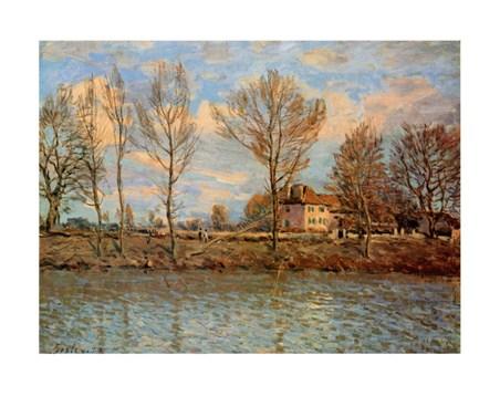 L'Ile De La Grand Jatte - Alfred Sisley