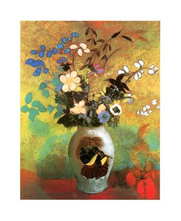 Fleurs Exotiques Dans Une Potiche - Odilon Redon