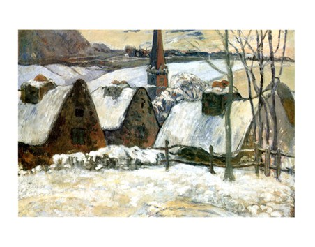 Village Breton Sous La Neige - Paul Gauguin