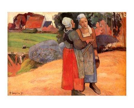 Paysannes Bretonnes - Paul Gauguin