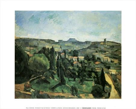 Paysage D'Isle de France - Paul Cezanne