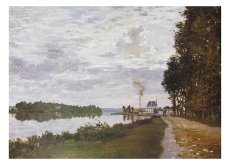The Riverside Path At Argenteuil - Claude Monet