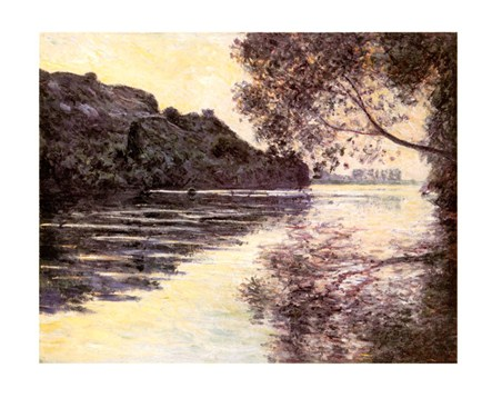 Effet De Soleil Couchant Sur La Seine At Port-Ville - Claude Monet