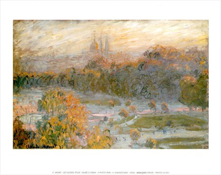 Les Tuileries, Etude - Claude Monet