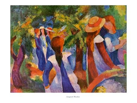 Girls Under Trees - August Macke