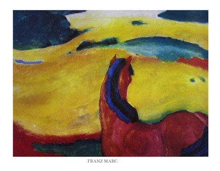 Horse in the Landscape - Franz Marc