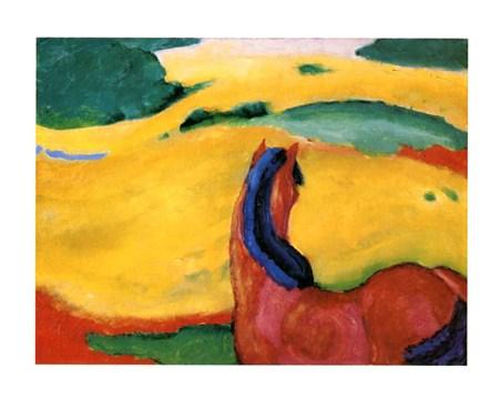 Pferd In Der Landschaft - Franz Marc