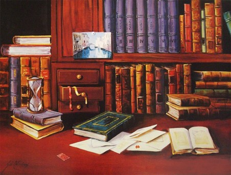 Library with Hourglass - G de Simoni