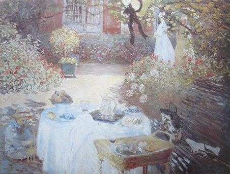 Lunch At Parigi - Claude Monet