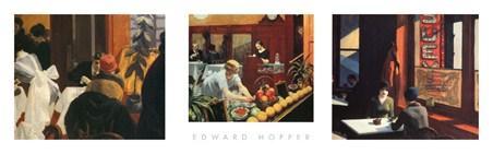 American Realism Triptych - Edward Hopper