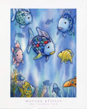 Rainbow fish to the rescue marcus pfister popartuk for Rainbow fish to the rescue