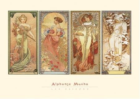 The Seasons, 1901 - Alphonse Marie Mucha