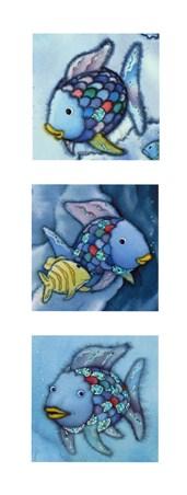 Rainbow Fish Triptych - Marcus Pfister