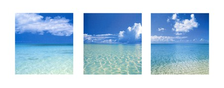 Tropical Infinity Triptych - Beach Photography