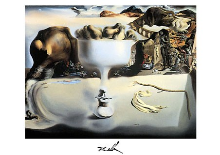 Framed Apparition of a Face and Fruitdish, 1938 - Salvador Dali