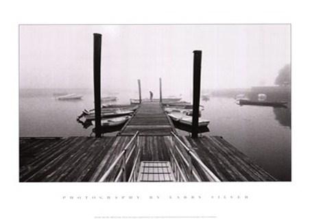 Framed Misty Harbour - Larry Silver