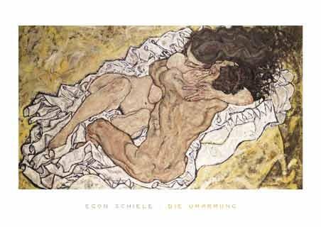 Framed The Embrace (Lovers II), 1917 - Egon Schiele