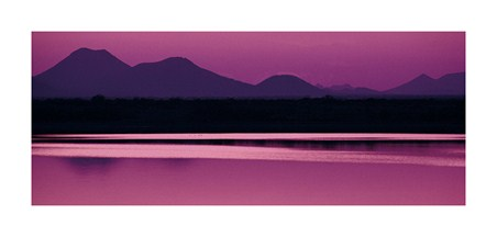 Silhouette of Mountains at Dusk - Purple Perfection