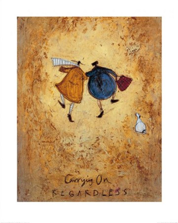 Framed Carrying On Regardless - Sam Toft