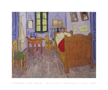 The Artist's Bedroom at Arles 1889 - Vincent Van Gogh