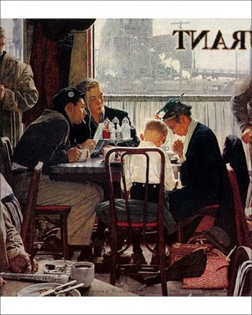 Saying Grace - Norman Rockwell