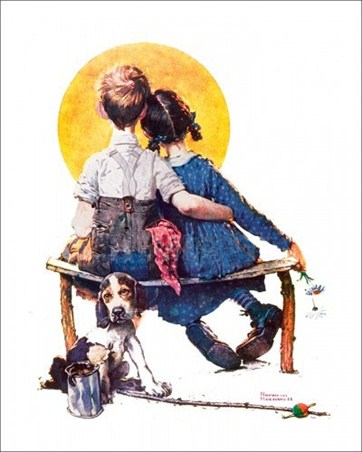 First Love Norman Rockwell Poster Card Buy Online