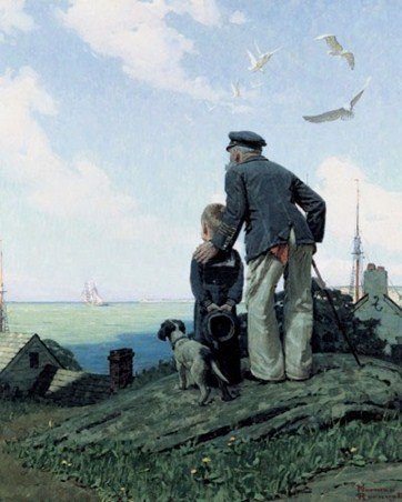 Outward Bound - Norman Rockwell