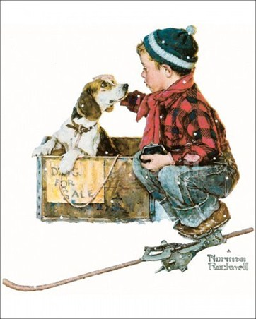 Boy meets Dog - Norman Rockwell