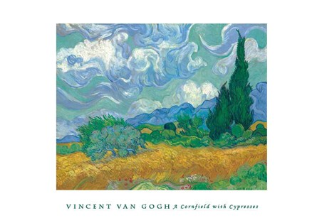 Cornfield with Cypresses - Vincent Van Gogh
